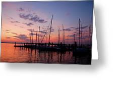 Lake Norman Sunset Greeting Card
