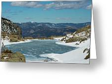 Lake Of Glass Winter Greeting Card