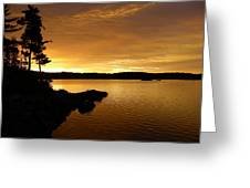 Lake Of Gold Greeting Card