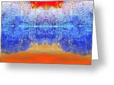 Lake Of Many Colors  Greeting Card