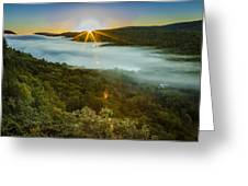 Lake Of The Clouds Sunrise Greeting Card