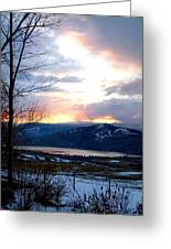 Lake Okanagan Sunset At Vernon Greeting Card