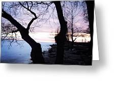 Lake Ontario In March  Greeting Card