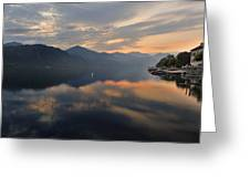Lake Orta Greeting Card by Joana Kruse