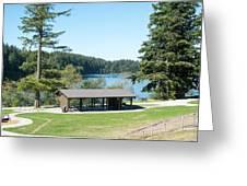 Lake Padden Picnic Shelter Greeting Card