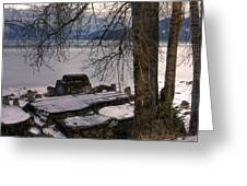 Lake Pend D'oreille At Humbird Ruins 1 Greeting Card