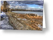 Lake Pend D'oreille At Humbird Ruins 2 Greeting Card