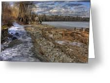 Lake Pend D'oreille At Humbird Ruins Greeting Card
