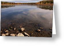 Lake Pomme De Terre In October Greeting Card