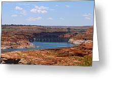 Lake Powell And Glen Canyon Dam Greeting Card
