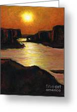 Lake Powell At Sunset Greeting Card