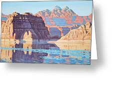 Lake Powell From Shore  Greeting Card