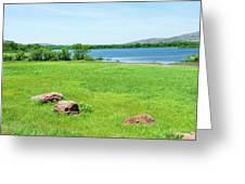 Lake Quanah Parker -  Wichita Mountains - Oklahoma Greeting Card
