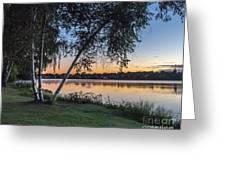 Lake Quannapowitt At Sunset Greeting Card