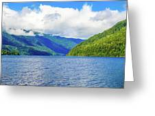 Lake Quinault Washington Greeting Card