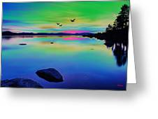 Lake Reflections 2 Greeting Card