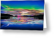 Lake Reflections 3 Greeting Card