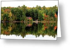 Lake Reflections Panorama 4370 4371 Greeting Card