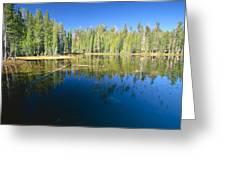 Lake Reflections Yosemite National Park California Greeting Card
