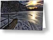 Lake Roland Sunset Greeting Card