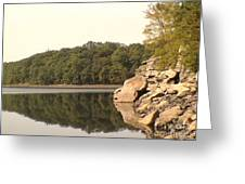 Lake Scranton Reflections Greeting Card