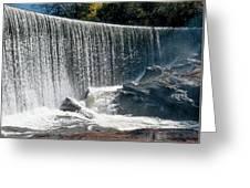 Lake Sequoyah Dam Falls - Highlands, North Carolina Greeting Card