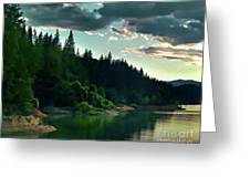 Lake Shasta Painterly Greeting Card