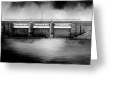Lake Shelbyville Dam Greeting Card