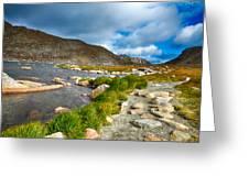 Lake Summit Tundra Path Greeting Card