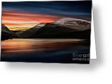 Lake Sunset Snowdonia Greeting Card