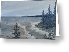 Lake Superior North Shore Waves  Greeting Card