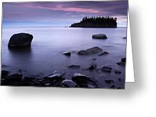 Lake Superior Twilight Greeting Card by Eric Foltz