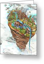 Lake Superior Watershed In Early Spring Greeting Card