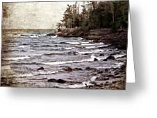 Lake Superior Waves Greeting Card