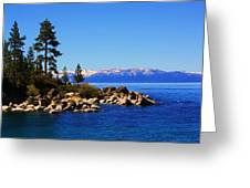 Lake Tahoe At Sand Harbor Greeting Card