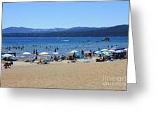 Lake Tahoe Beach Scene Greeting Card