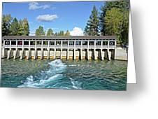 Lake Tahoe Dam Greeting Card