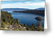 Lake Tahoe Emerald Bay Panorama Greeting Card