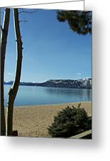 Lake Tahoe Incline Village Blue Sky Reflection Greeting Card