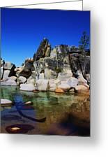 Lake Tahoe- Pyramid Of Rocks Greeting Card