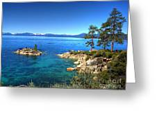 Lake Tahoe State Park Nevada Greeting Card