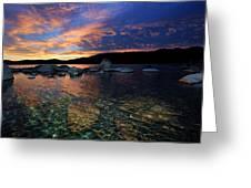 Lake Tahoe Sundown Greeting Card