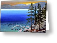 Lake Tahoe Sunrise Greeting Card