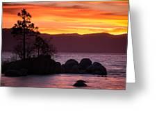 Lake Tahoe Sunset Colors Greeting Card