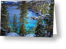 Lake Tahoe Winterscape Greeting Card