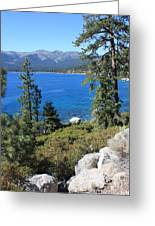 Lake Tahoe With Mountains Greeting Card