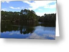 Lake Thomas Hilton Head Greeting Card by Thomas Marchessault