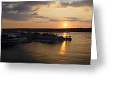 Lake Travis Sunset Over Carlos N Charlies Greeting Card