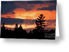 Lake Umbagog National Wildlife Refuge Sunset  Greeting Card