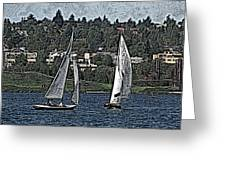 Lake Union Regatta Greeting Card
